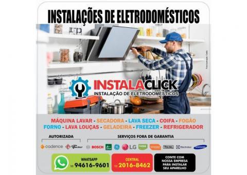 Serviço de instalação para eletrodomésticos